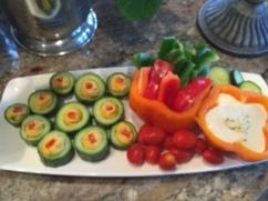 Cucumber Cup Veggie tray