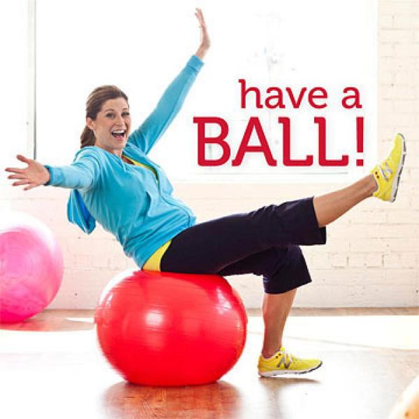 EXERCISE BOUNCING ON A BALL 2
