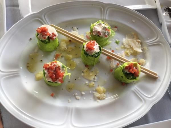 Caesar Salad Sushi Bites